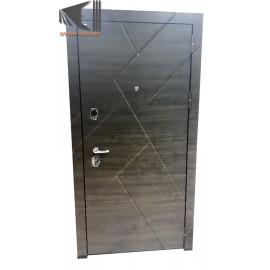Входная дверь Flat Stout 17 Манзония чёрная