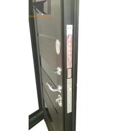 Входная дверь Гарда Муар 7,5см Царга Темный кипарис