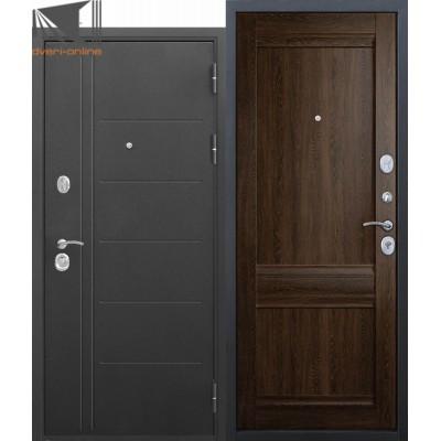 Входная дверь Троя 3 контура уплотнения Орех Сиена