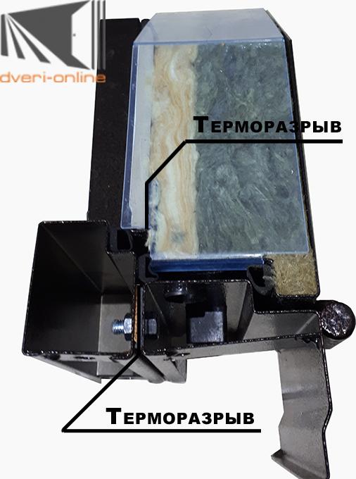 Конструкция двойного терморазрыва с темя притворами