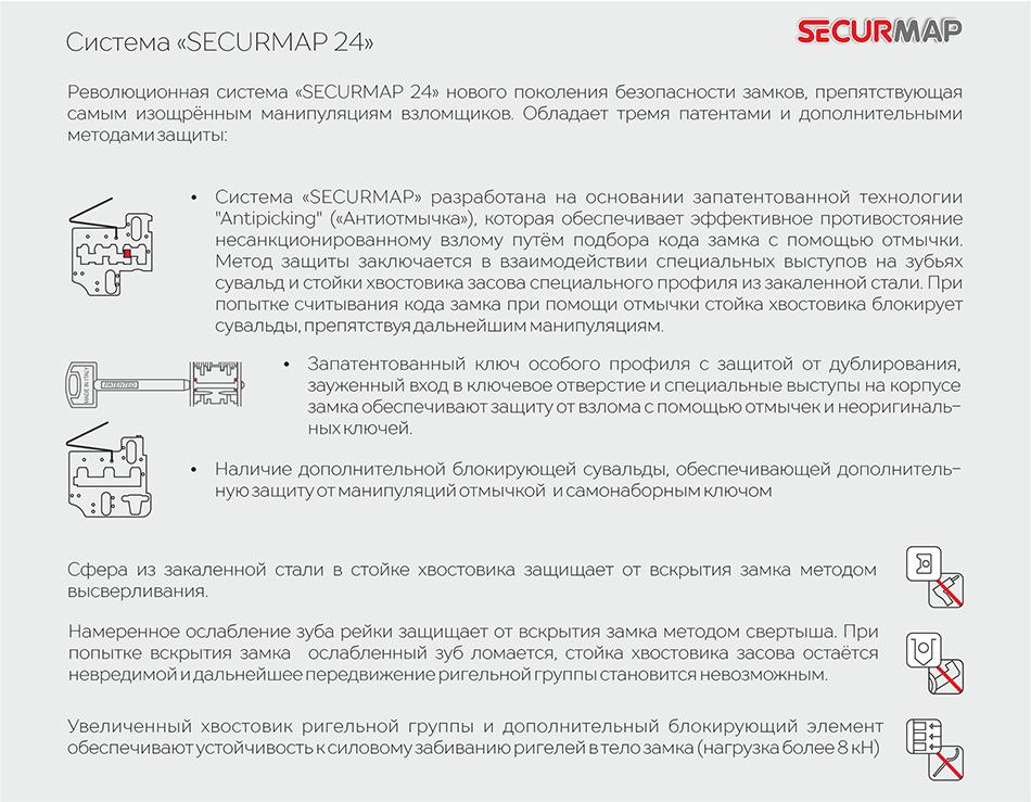 Безопасность замка 2530 «SECURMAP 24»