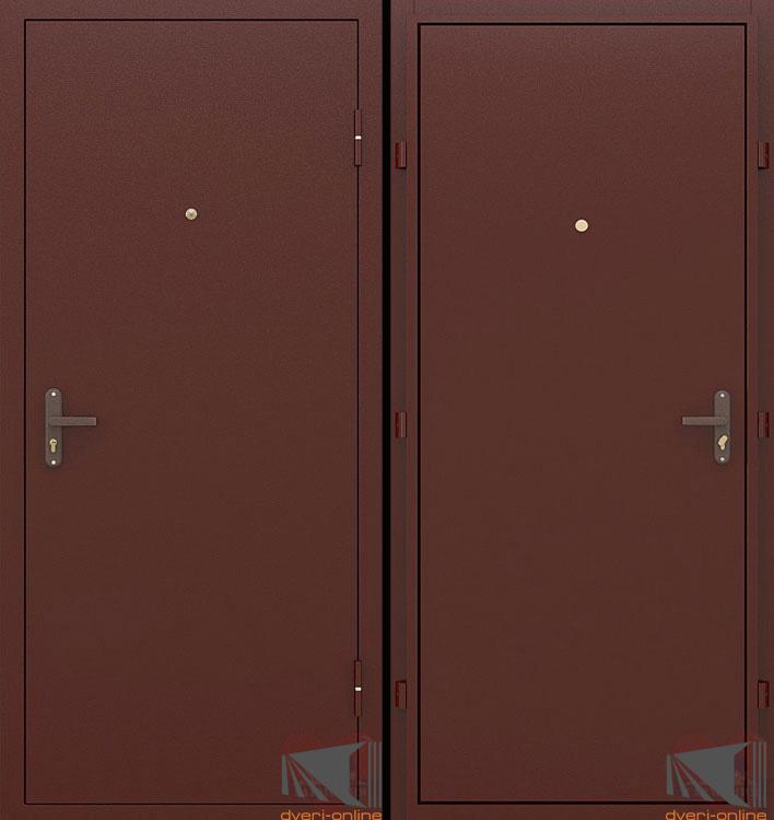Входные двери с металлическим покрытием с обеих сторон