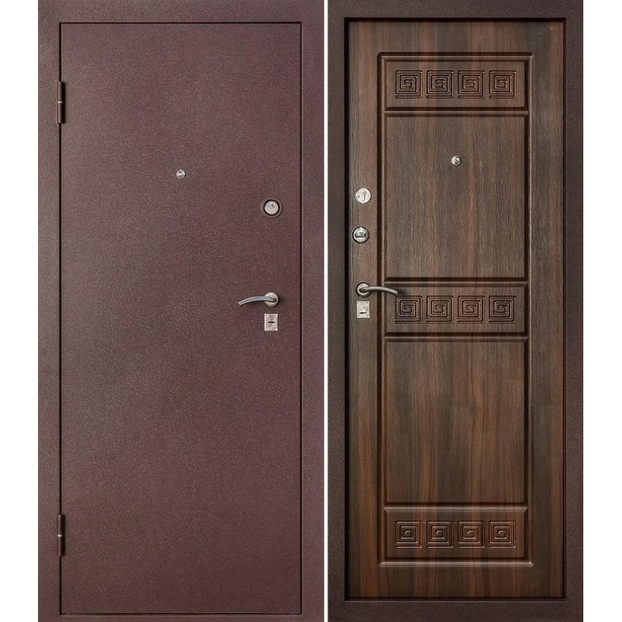 Входная дверь с одной стороны металл